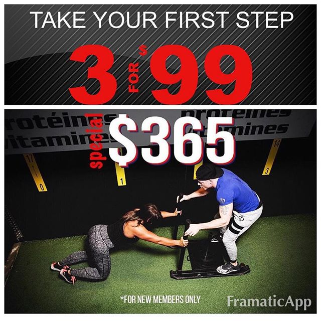 Not 1, but 2 great promos that will push you to being the new you. Take advantage of $1 a day membership from monster gym today and sign up for some private 1 on 1 training to help you get summer ready