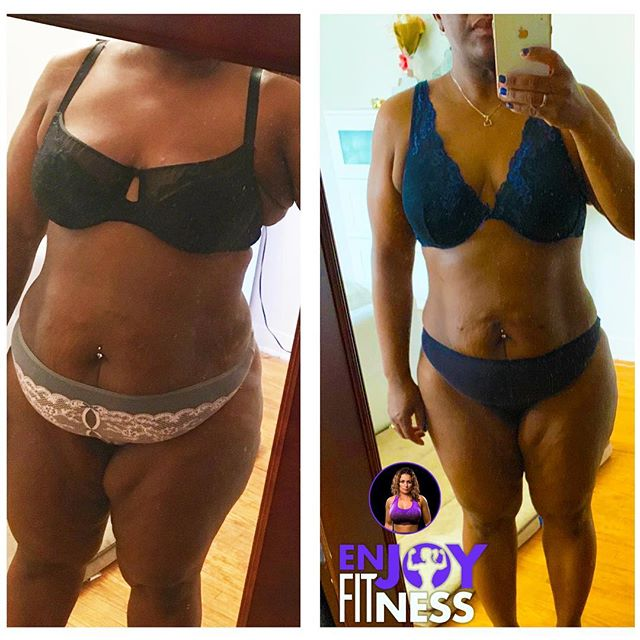 Transformation Tuesday! Progress is progress recognize what you've accomplished! Reward yourself, don't compare, Love yourself, always keep going ! Www.enjoyfitness.ca