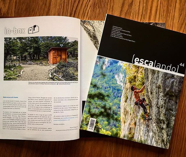 Featured in Escalando 44 Patagonia Waste Management and the Laguna Capri TTS unit Special Thanks to Paula Chaparro for making this happen 🙏🤘#patagoniawastemanagement #patagoniabuenosaires #patagoniaconservationgrant #climbvolunteerrepeat @patagonia  @patagonia.arg @patagonia_climb @accesopanam #accesopanam @pn_losglaciares #zonanortepnlosglaciares #toilettechsolutions #deepcreekcoffeeco @deepcreekcoffeeco @elchaltenturismo #elchalten