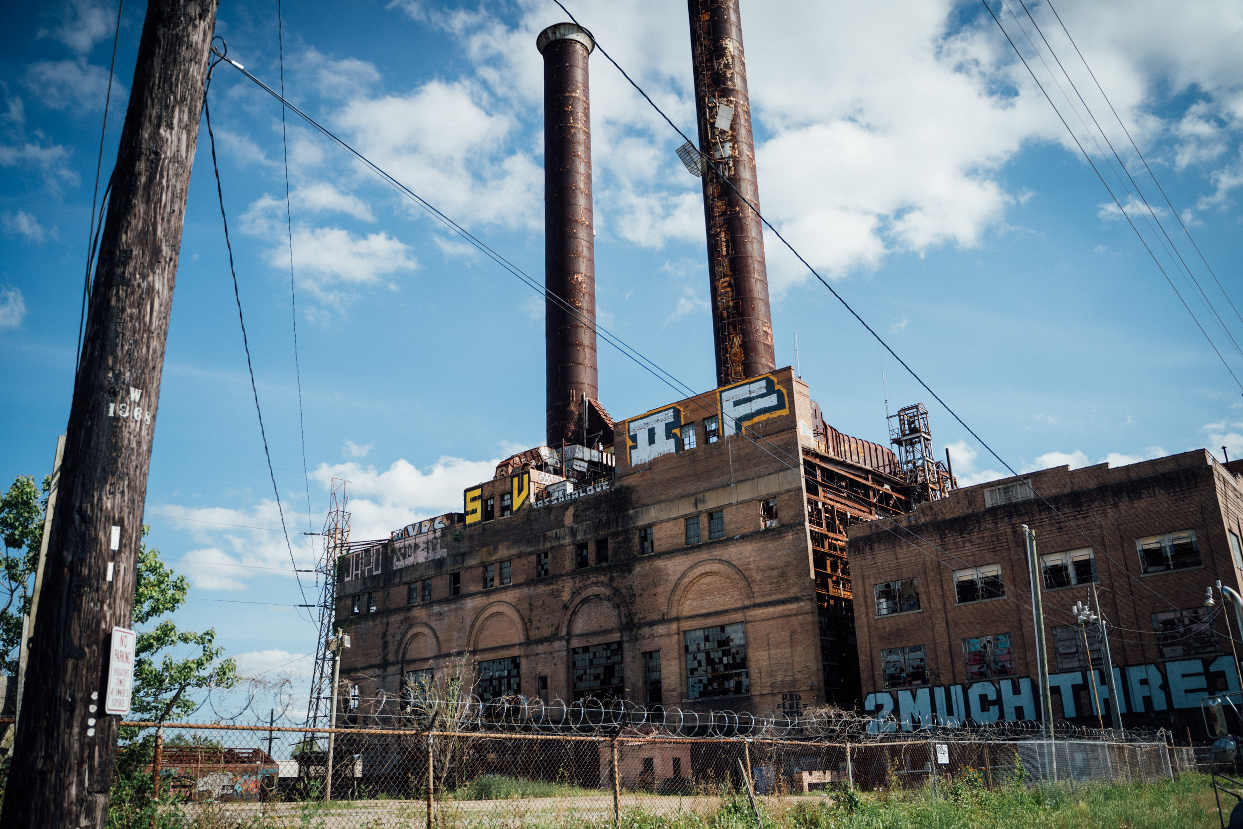 the abandoned power plant. - (lower garden/near uptown)