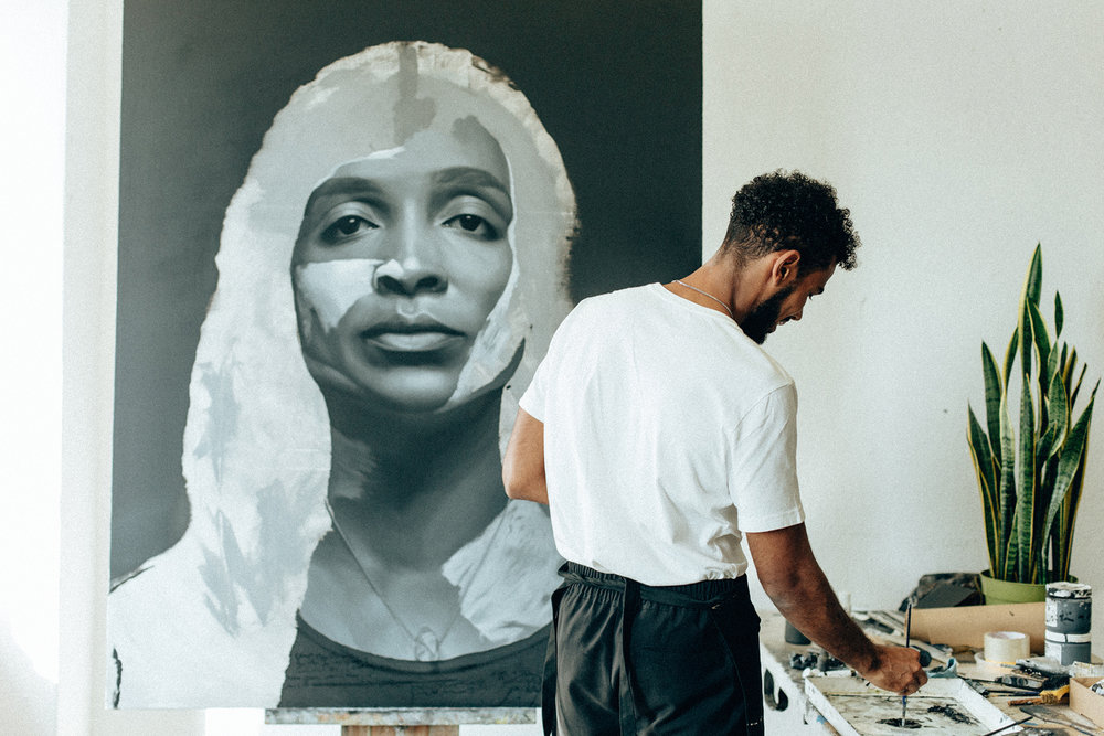 Kohshin Finley's Portraits Look Back At You - Painting the windows of the soul.expressions