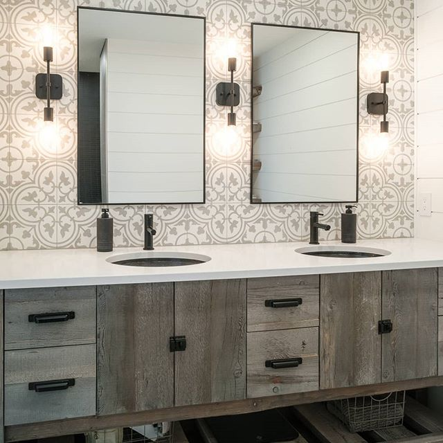 Hey Luke, we want a vanity that looks old and rustic. . Hey Luke, like really old wood rustic. Not fake rustic. . Hey Luke, think you could take these old elevator boards and make a vanity out of them? Please?? 😬 . Mission accomplished. @contourcabinets delivered our cabinet dreams at every turn in this place. . @houseenvyinteriors . . #clearspacedesignco #houseenvyinteriors #amisty #workingmagic #interiorlove #designers #yqrdesign #designedforyou #loveyourhouse #realinstagramhomes #showmeyourhome #showmeyourstyled #sharemysquare #sharemystyle #roomhints #inspotoyourhome #pocketofmyhome #interior2you #howyouhome #currentdesign situation #decorcrushing #localhomes #roomhints #customhomedesign #cljsquad