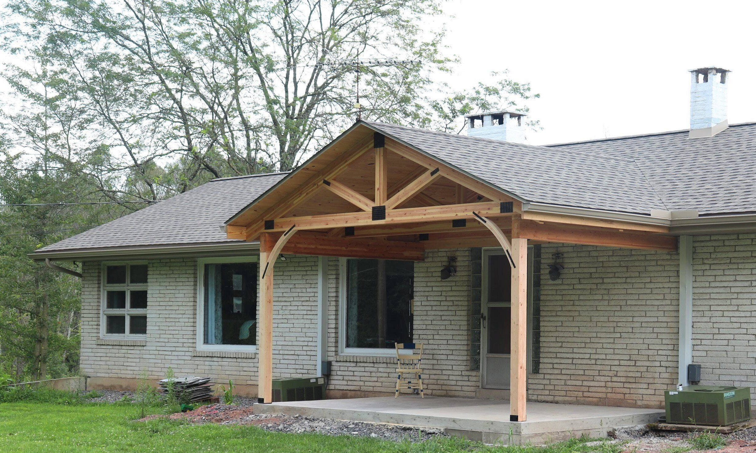 Porch Roof Installation In Central Pa Precise Construction Ii