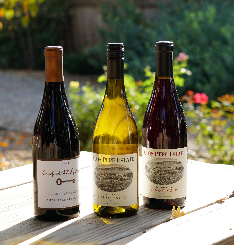 2018 Fall Shipment - CRAWFORD FAMILY 2015 2nd Street Cuvee GSMCLOS PEPE 2013 ChardonnayCLOS PEPE 2013 Pinot Noir
