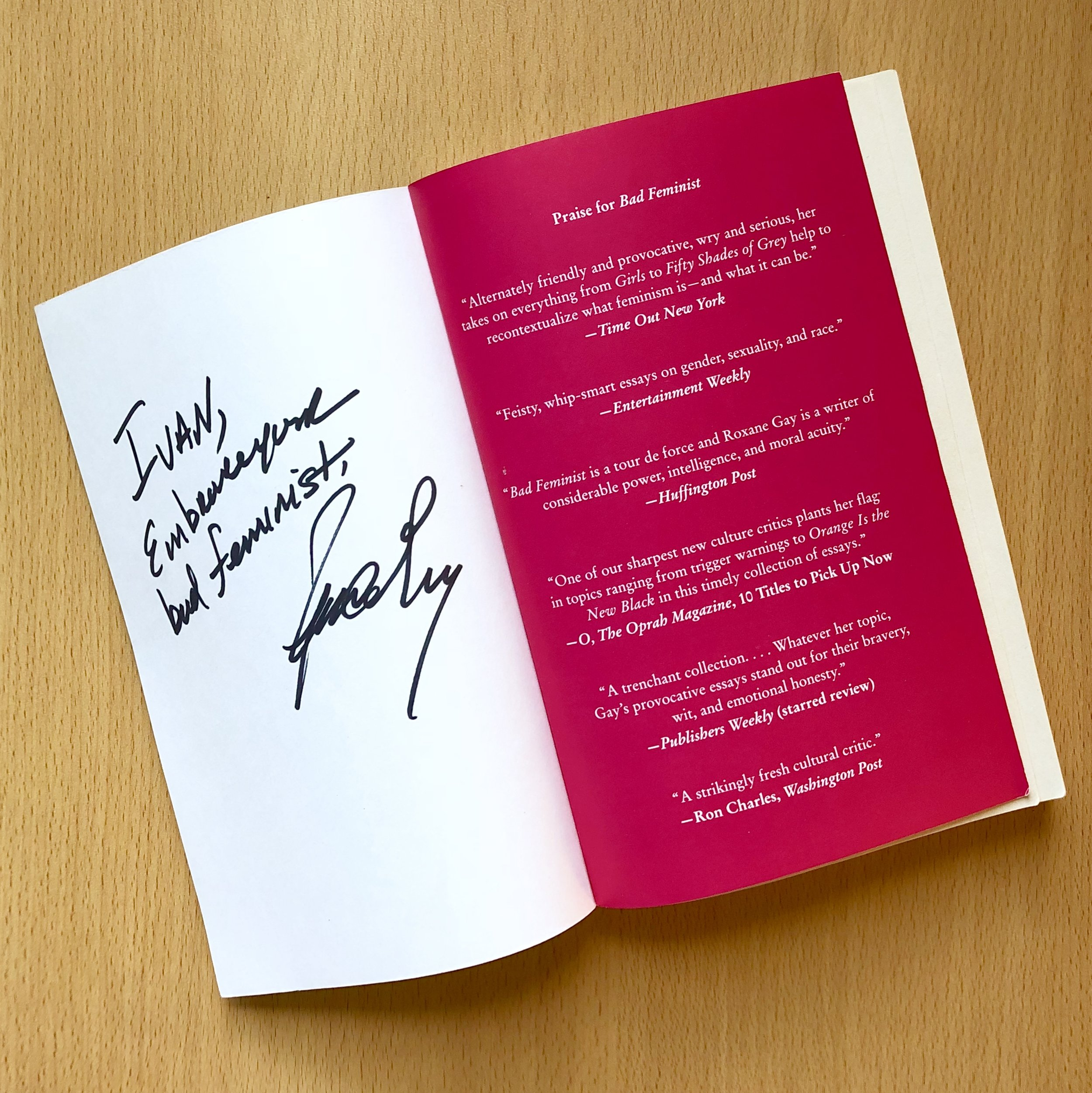 Roxane Gay's autograph