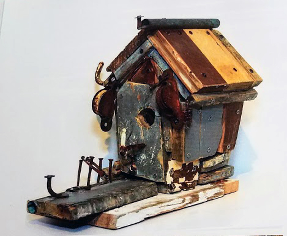 KENNEDY BIRDHOUSE ~  Repurposed artifacts from John and Jackie Kennedy's cottage in Hyannisport, MA