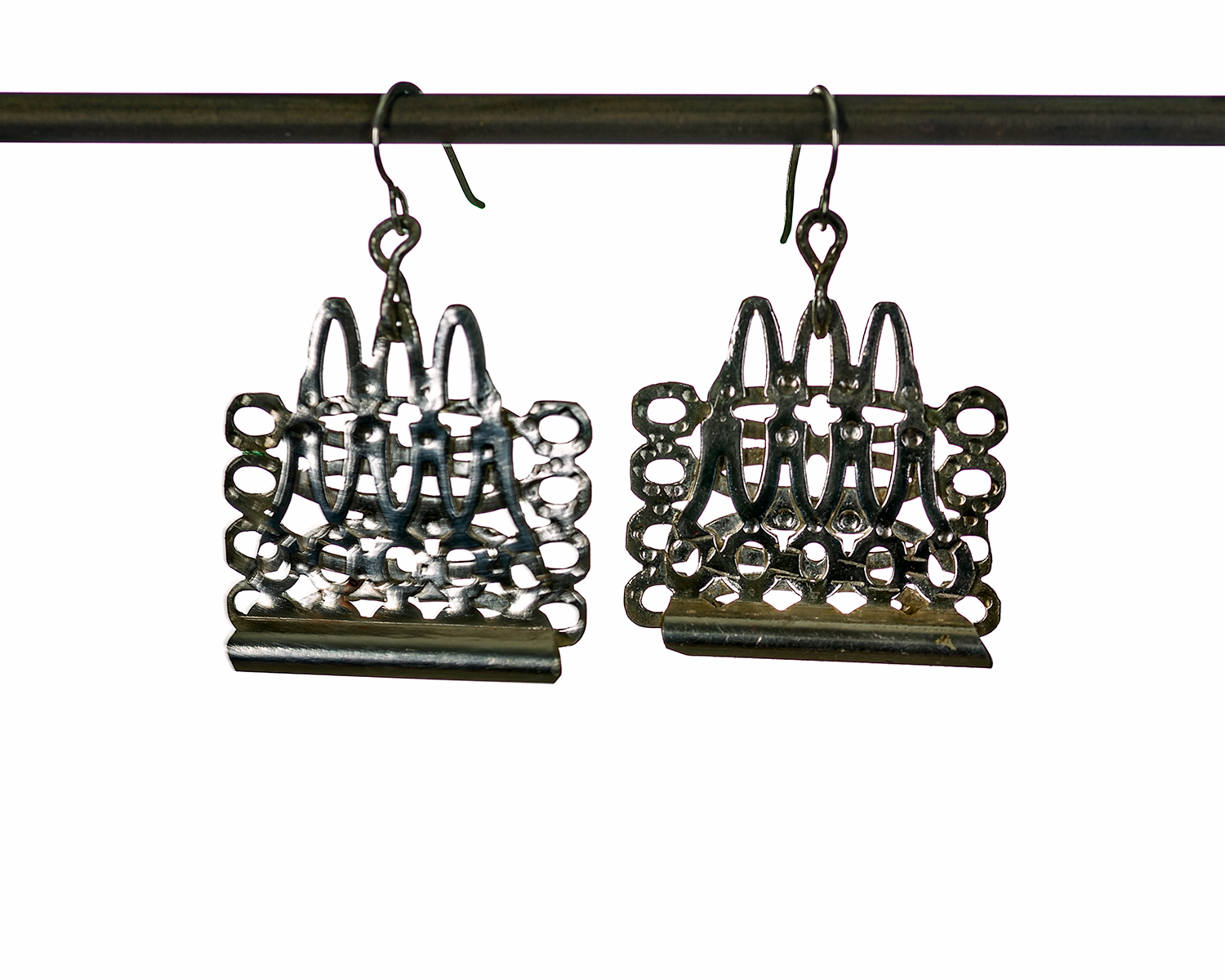DOUBLE DIP EARRINGS ~ Repurposed hand-forged silver
