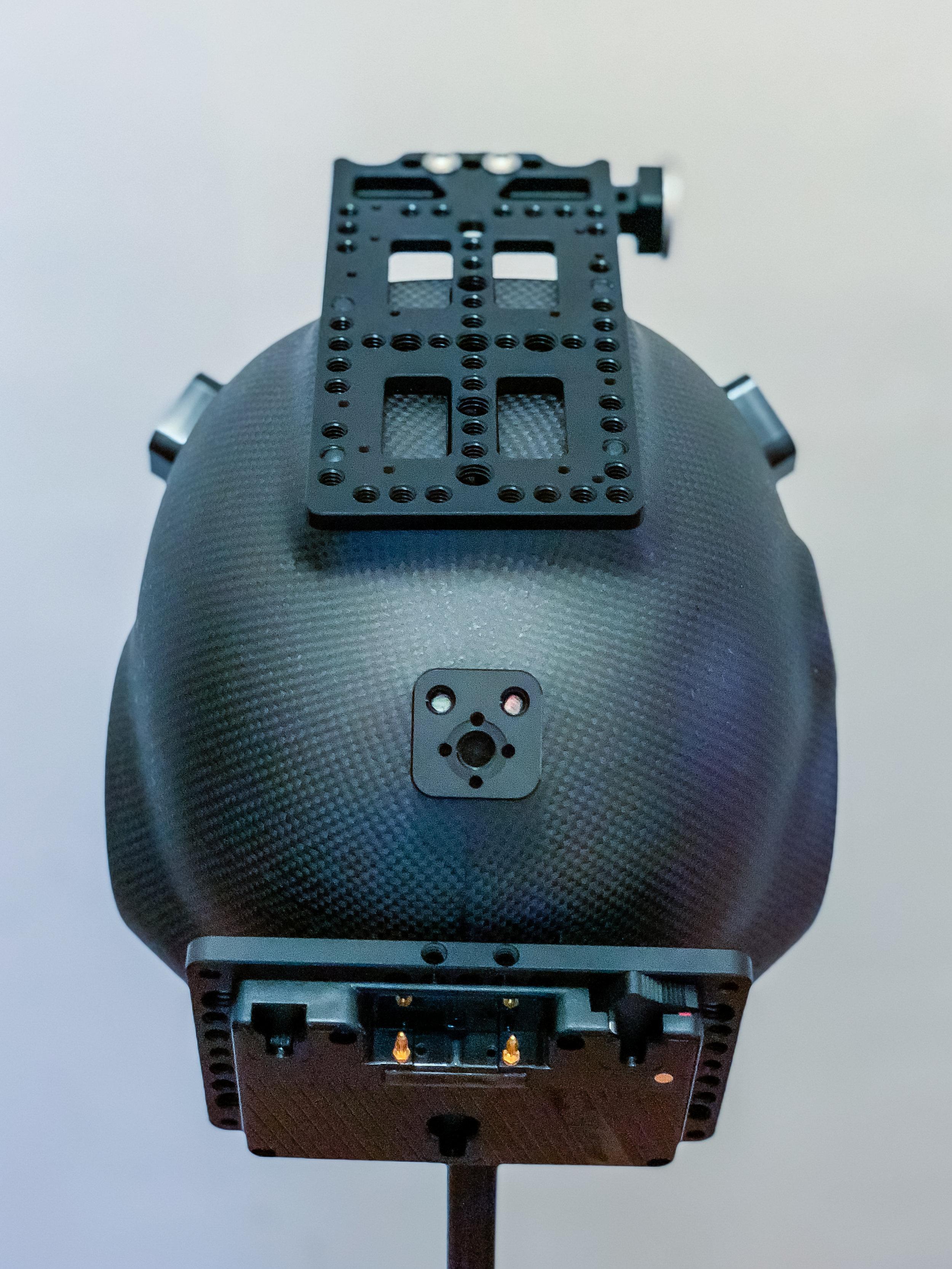 Rear/Top view of helmet