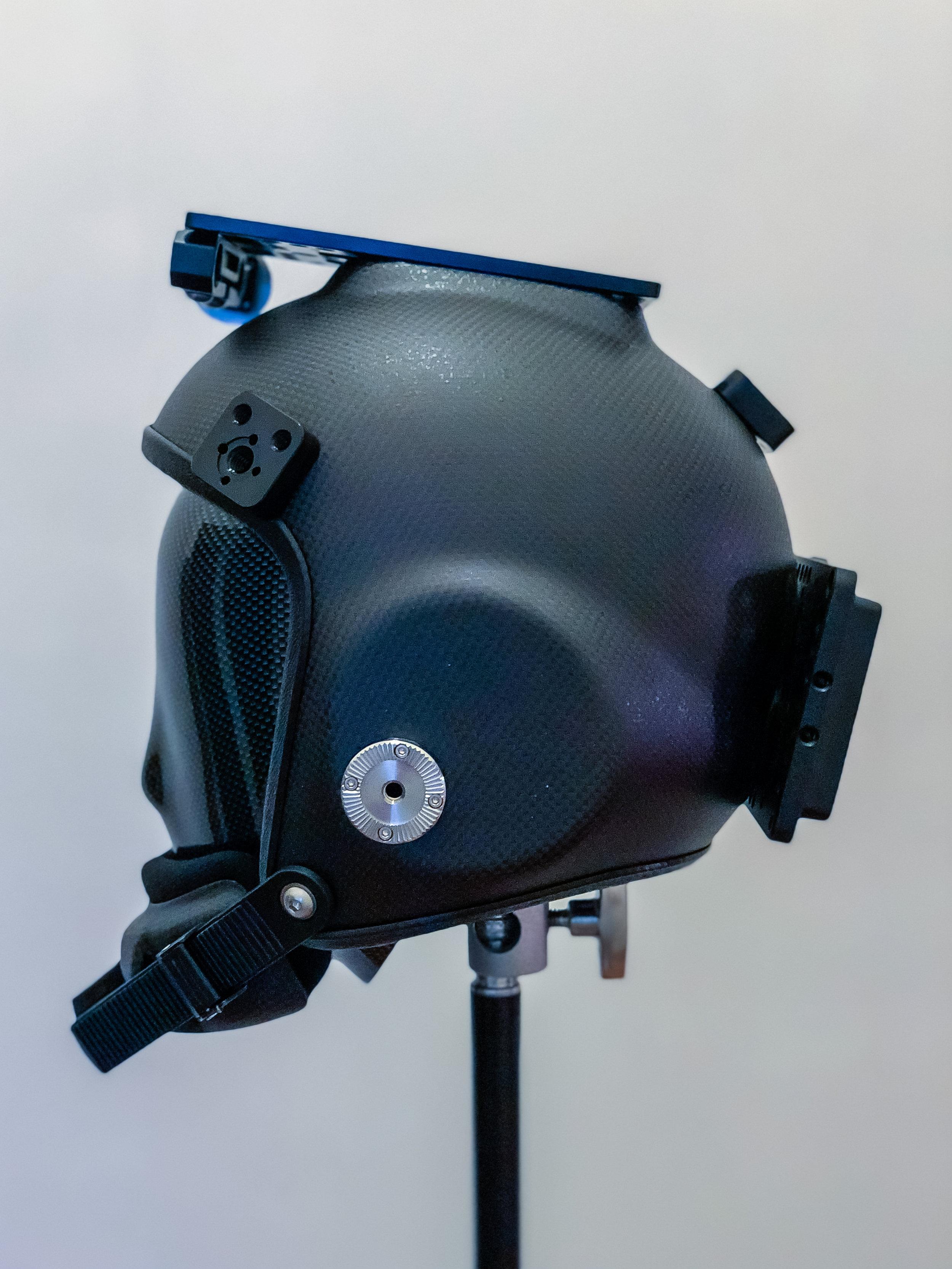 Left side of helmet
