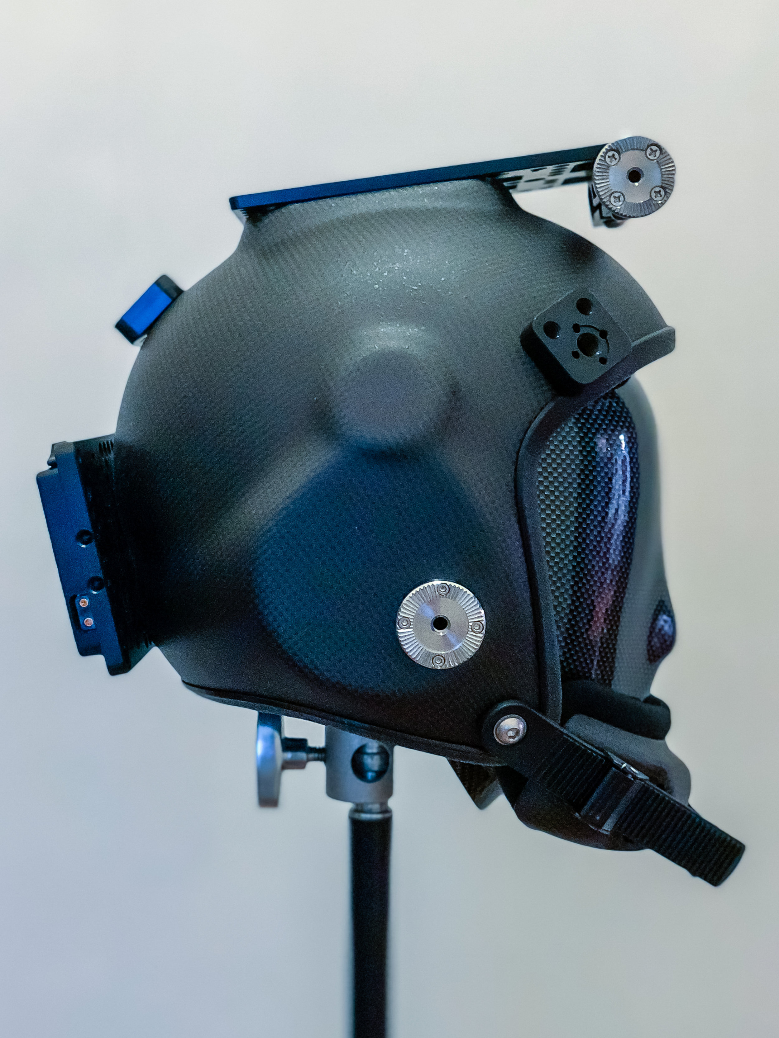 Right side of helmet