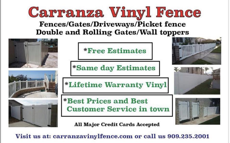 Carranza Vinyl Fence Installation