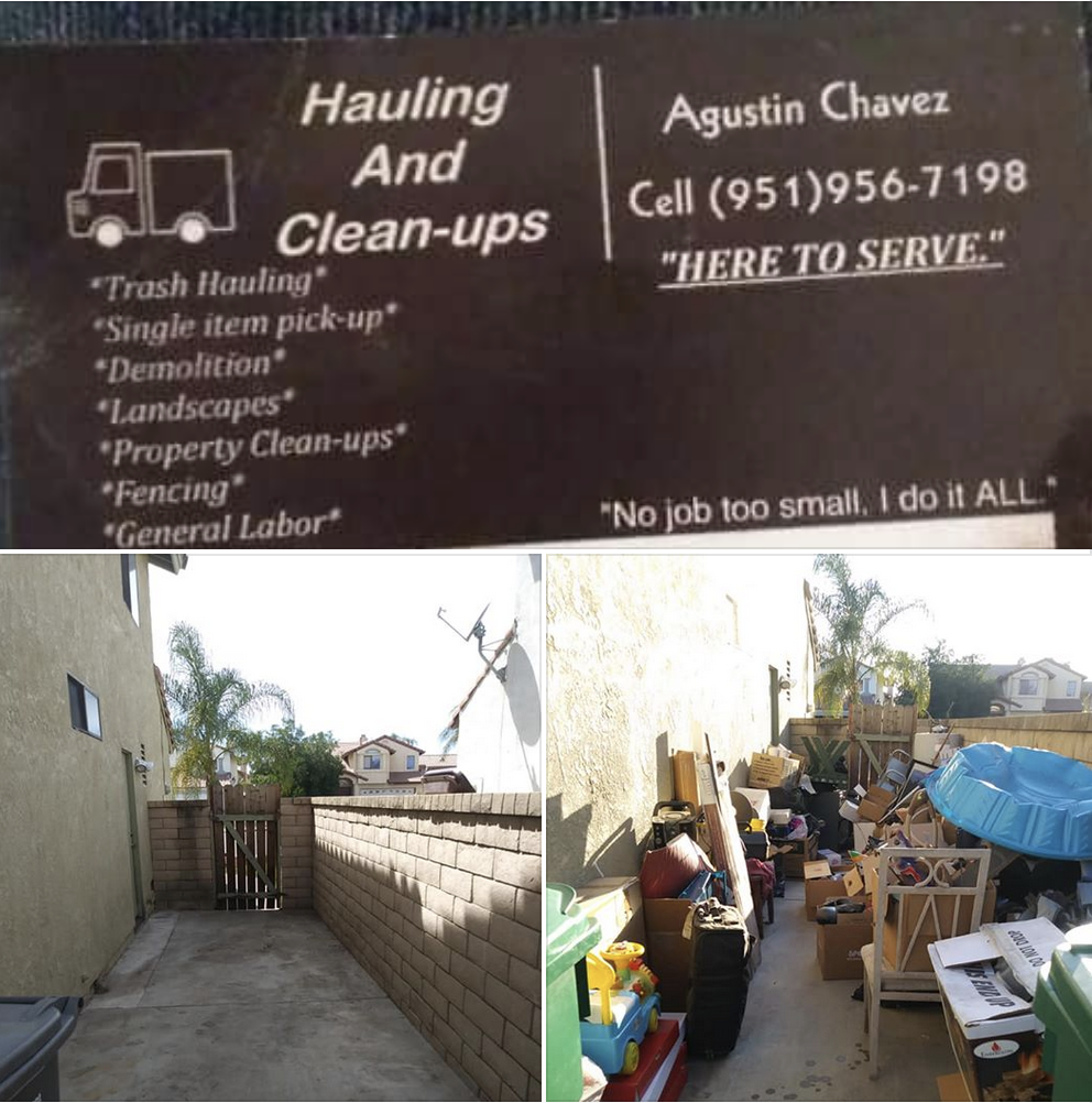 Agustin Chavez, Hauling & Pick-up