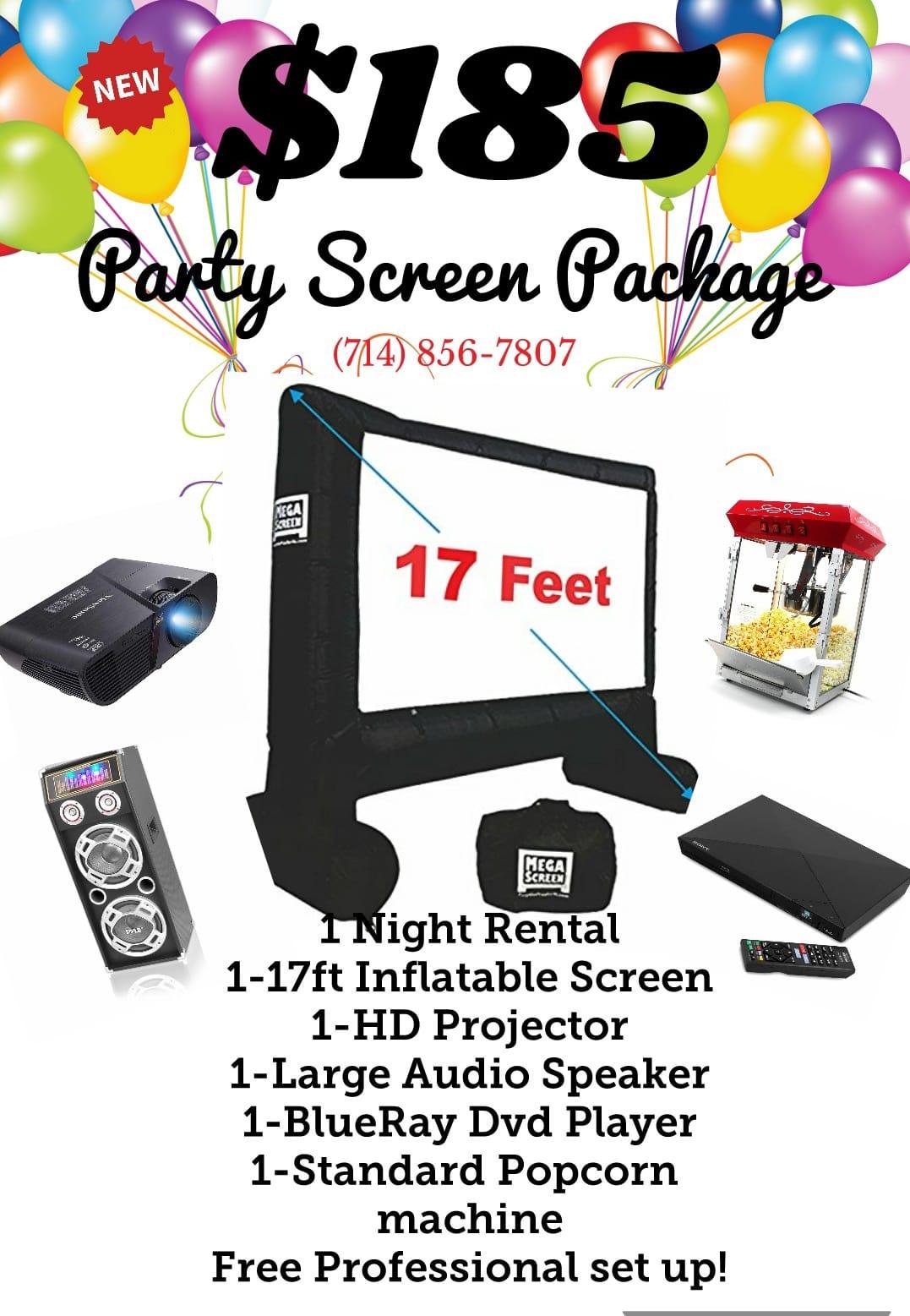 Party screens & rentals