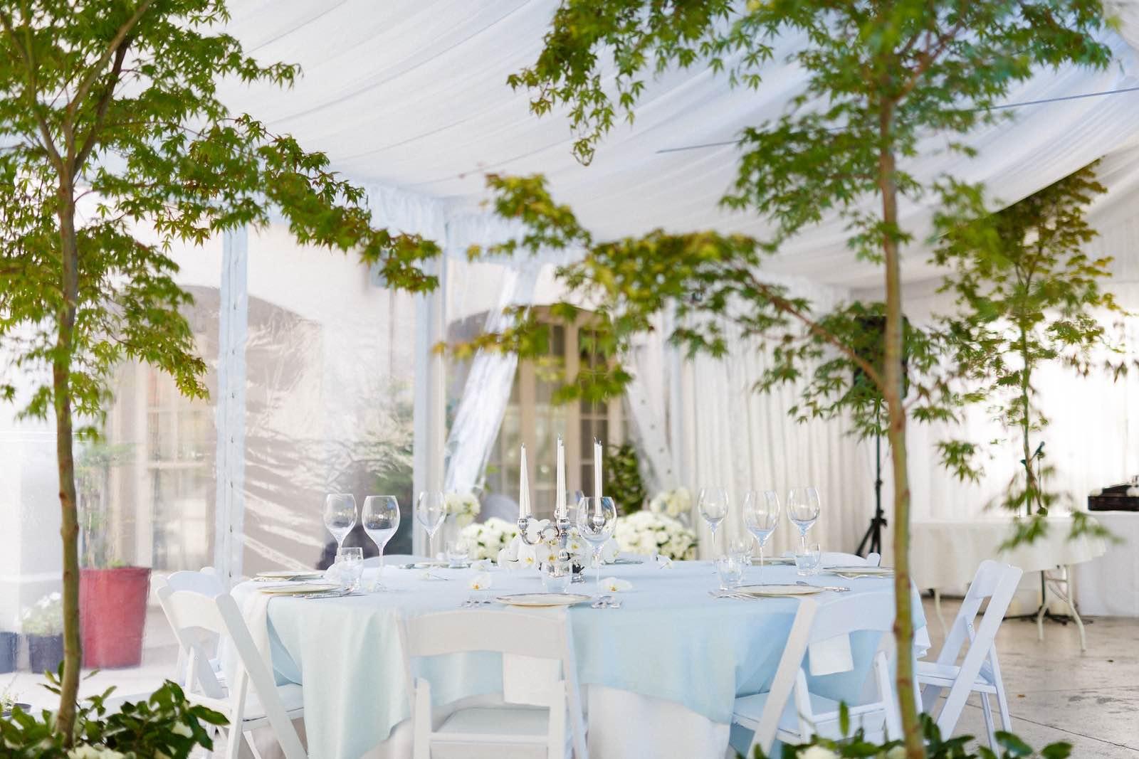 nz wedding dinner table