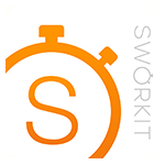 Sworkit Orange Stopwatch Logo