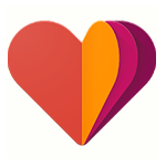 Google Fit logo - multicolored paper hearts