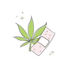 medical marijuana leaf illustration
