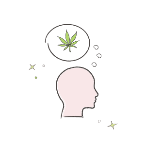 CBD marijuana help with PTSD illustration
