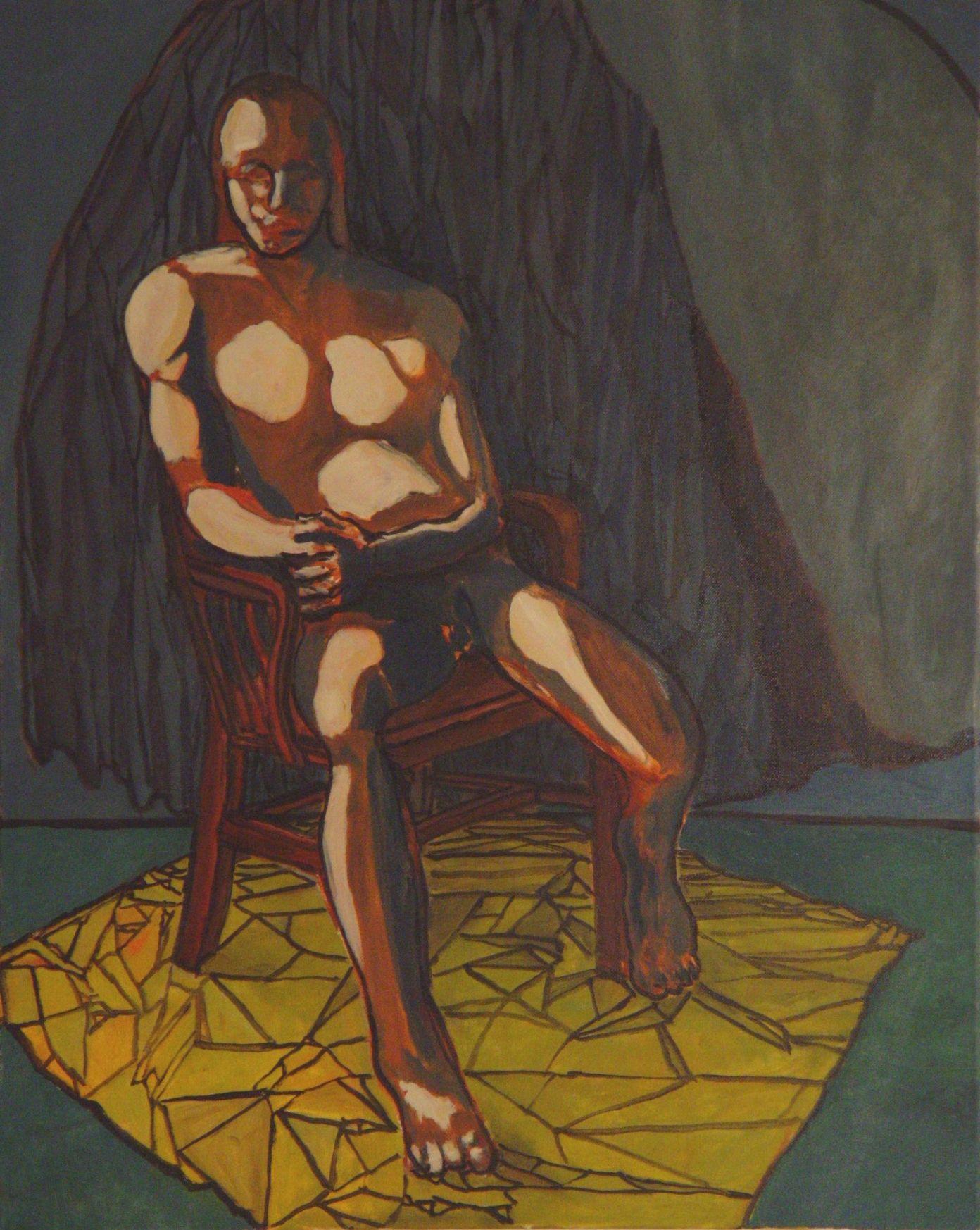Nude Man Seated