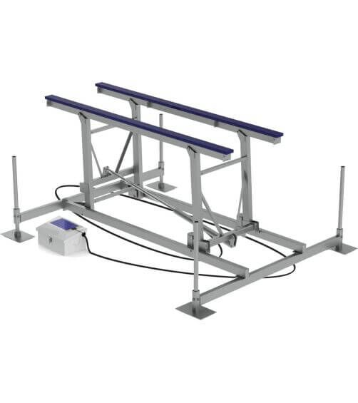 BOATS UP TO 26'  7K Capacity Lift | Available with 51″ or 64″ Vertical Lift  8K Capacity Lift | Available with 53″ or 65″ Vertical Lift
