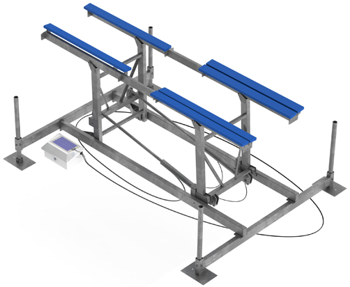 BOATS UP TO 28'  10,000 lb Capacity Lift | Available with 53″ or 65″Vertical Lift