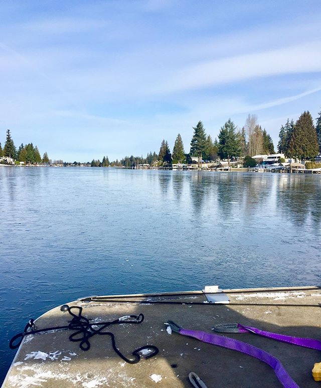 We're plowing through the ice on this beautiful day!  #LakeTapps #GatcoMarine
