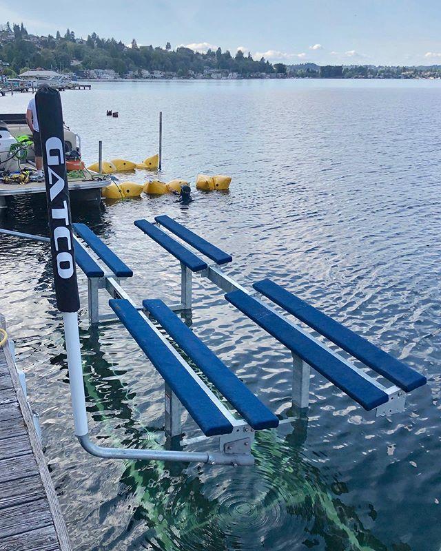 Beautiful Lake Washington install. @bastaboatlifts 10k  #LakeWashington #GatcoMarine #bastaboatliftdealer #bastaboatlifts