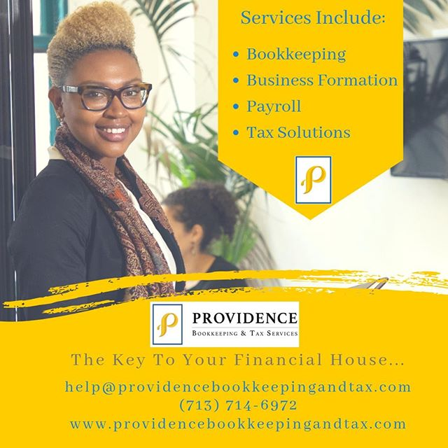 Providence Bookkeeping & Tax Services LLC is the key to your financial house! We strive to keep your finances intact and your mind a little more at peace. Call us today! #providenceislike #smallbusiness #entrepreneur