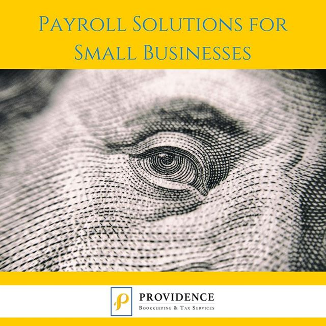 Today's topic focuses on payroll solutions for small businesses. When first starting out, a large population of small business owners, especially solopreneurs, will skip out on a payroll solution. And soon enough, we discover the cost of doing so: that large year-end tax bill. Read our blog about payroll solutions for small businesses. Link: http://ow.ly/H57q30lXmhB #providenceislike #entrepreneur #smallbusiness