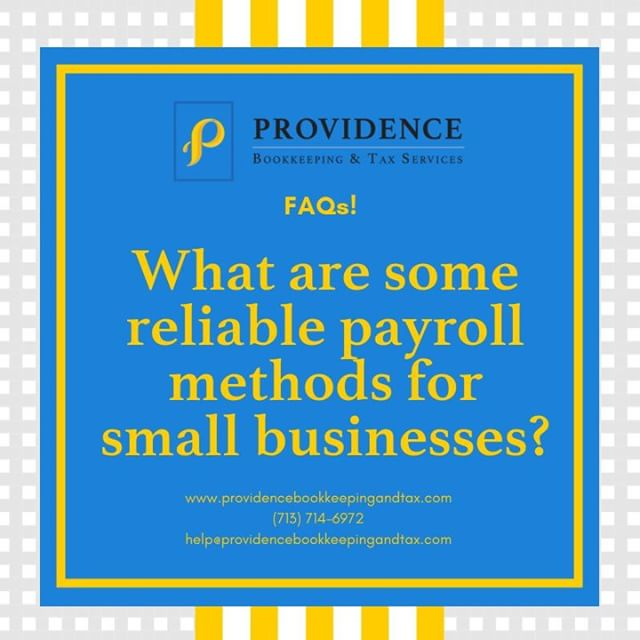 You can either do it yourself, use a payroll system, or work with a payroll solutions provider like Providence! Check out this week's blog for more info: ow.ly/H57q30lXmhB #providenceislike #smallbusiness #payroll