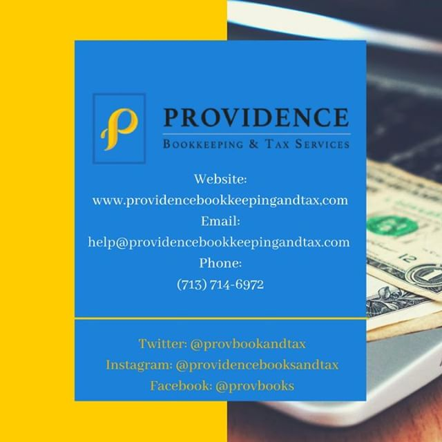 Providence Bookkeeping & Tax Services LLC provides an array of financial services to meet your needs. Don't hesitate to give us a call if you feel you need help! #providenceislike #smallbusiness #entrepreneurs