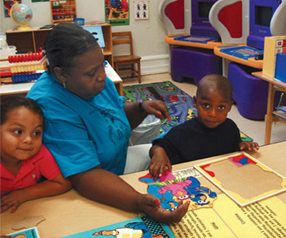 Open-Door Preschool operates as an extended day, intensive educational facility. It is licensed by the state of Texas and serves children from different language backgrounds.