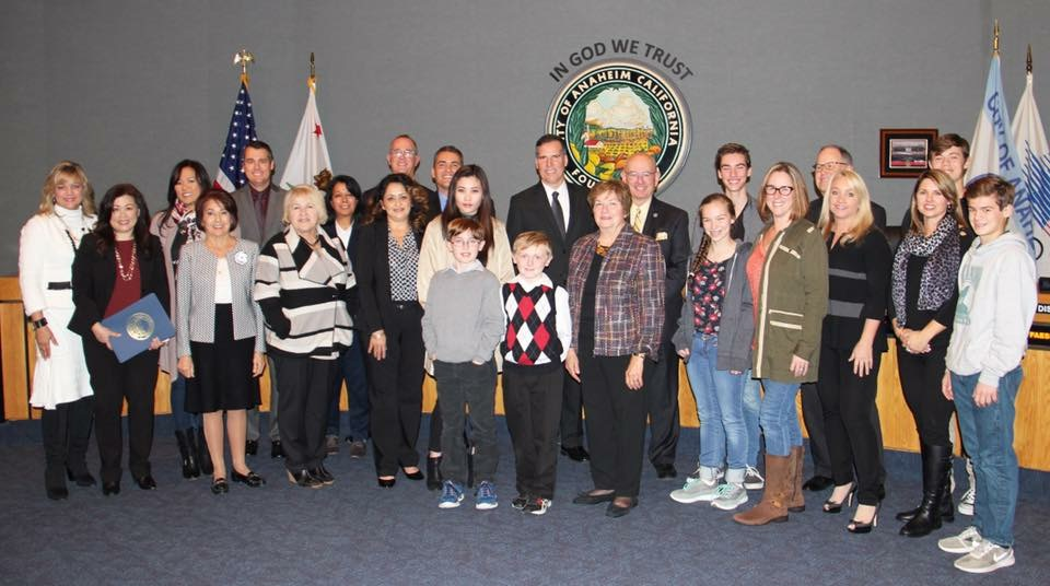 Recognition ceremony for CARE for our service to the OUSD community by the Anaheim City Council.