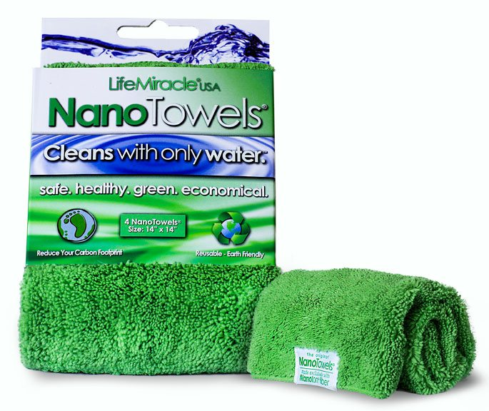 The NanoTowels®    Give You Significant Household Savings, Benefit the Health Of You and Your Family, Are Easy and More Convenient To Use, Will Clean Just As Good As the Toxic Chemicals, and Offer Big Environmental Benefits.Household chemicals are the #1 leading external and preventable cause for sickness and death in American households. They leave toxic residues all over your home when you use them they fill your home with lung damaging fumes.