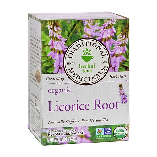 Traditional Medicinals Organic Licorice Root Tea 3 pk by Traditional Medicinals    Licorice root is used to soothe gastrointestinal problems. In cases of food poisoning, stomach ulcers, and  heartburn , licorice root extract can  speed  the repair of stomach lining and restore balance. This is due to the  anti -inflammatory and immune-boosting properties of glycyrrhizic acid.