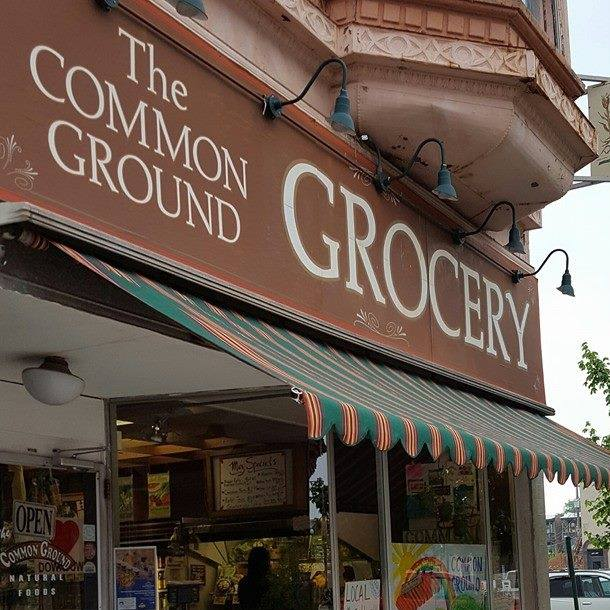 Common Ground Grocery    Common Ground Grocery has been in Downtown Bloomington since 1977! Common Ground is a retailer of natural products that are sure to fit your needs and your budget. Our unmatched loyalty to the Bloomington-Normal market has allowed us to provide the area with environmentally friendly products for decades. That same loyalty has allowed our local operations to contribute just as much to our community as our community has contributed to us. Partnering with local farmers and businesses, we continue to deliver high quality products that benefit our consumers and our economy.