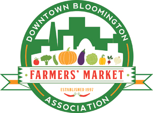 Downtown Farmer's Market    Located on the historic downtown square, the Downtown Bloomington Association's Farmers' Market is managed by the Downtown Bloomington Association. Not only does the market give customers a colorful venue to buy locally grown farm products, it also puts them in touch with local artisans of prepared goods and fine arts, musicians, and community organizations. The Downtown Bloomington Association Farmers' Market is a  producer-only market  offering a wide array of farm products — including vegetables, fruits, cheeses, pork, beef, free-range poultry and eggs, flowers, plants, herbs, and more grown and produced by the individual selling these items!