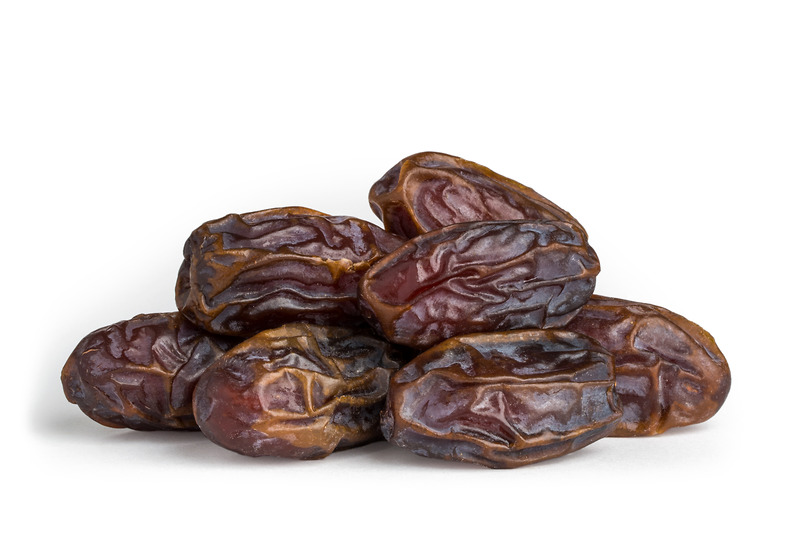 Organic Medjool Dates    Large and moist, these organic Medjool dates are a real treat. Medjool dates are naturally flavorful, low in fat and high in potassium for a healthy way to satisfy a sweet tooth. These dates are huge and ideal for snacking; just remember to remove the pits first. The fruits can also be used to make energy bites or raw desserts. Our organic Medjool dates are certified by CCOF.