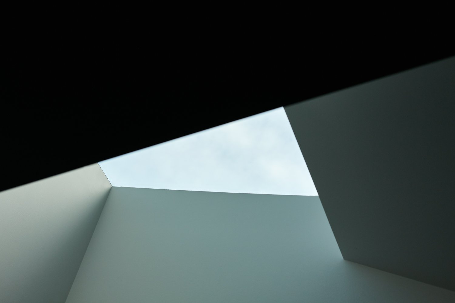 Looking up at a skylight