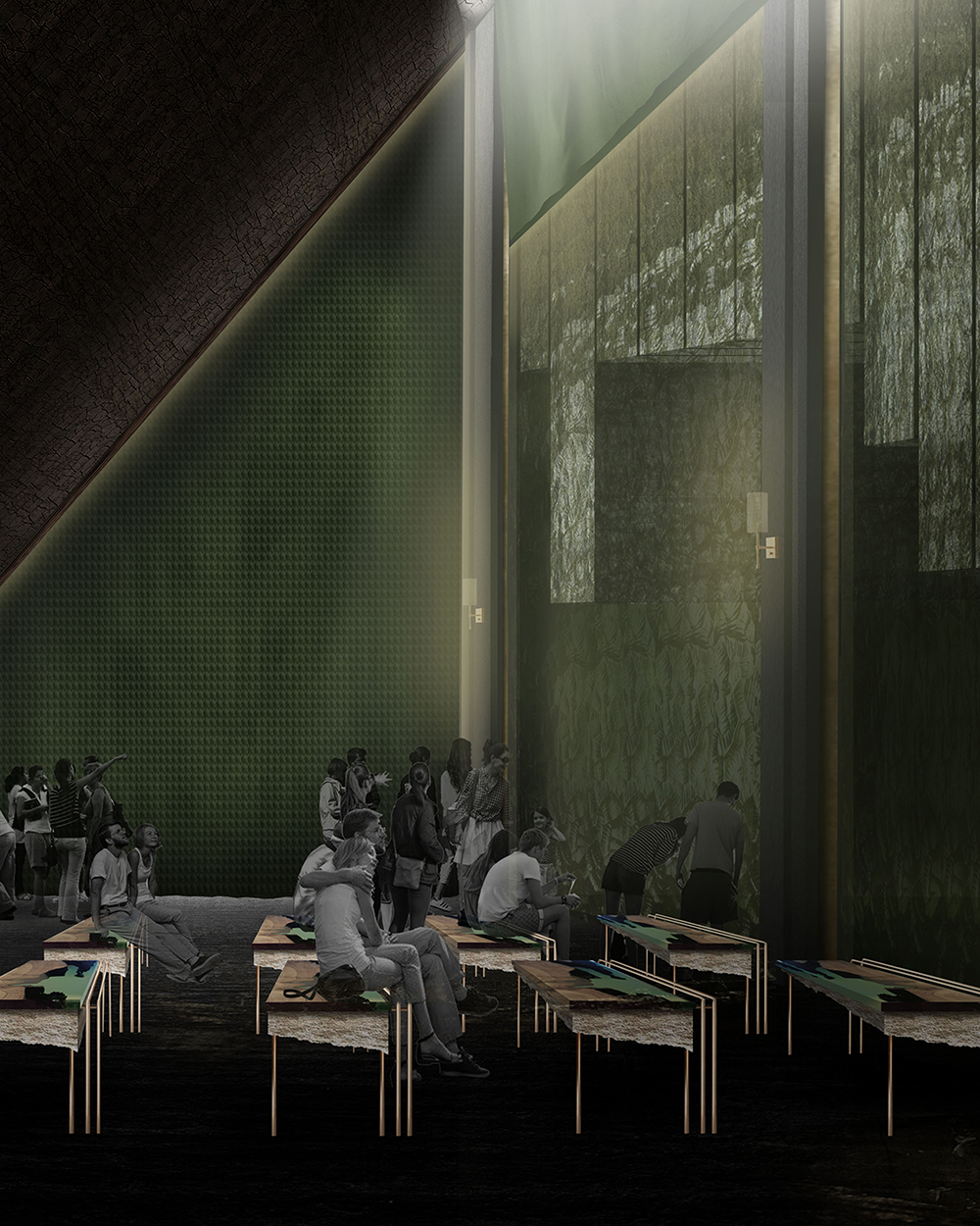 Dulux Colour Awards 2019 Student Commendation Project _ The Performance Terrain Theatre (NZ) by Lauren Gibbs, Auckland University of Technology