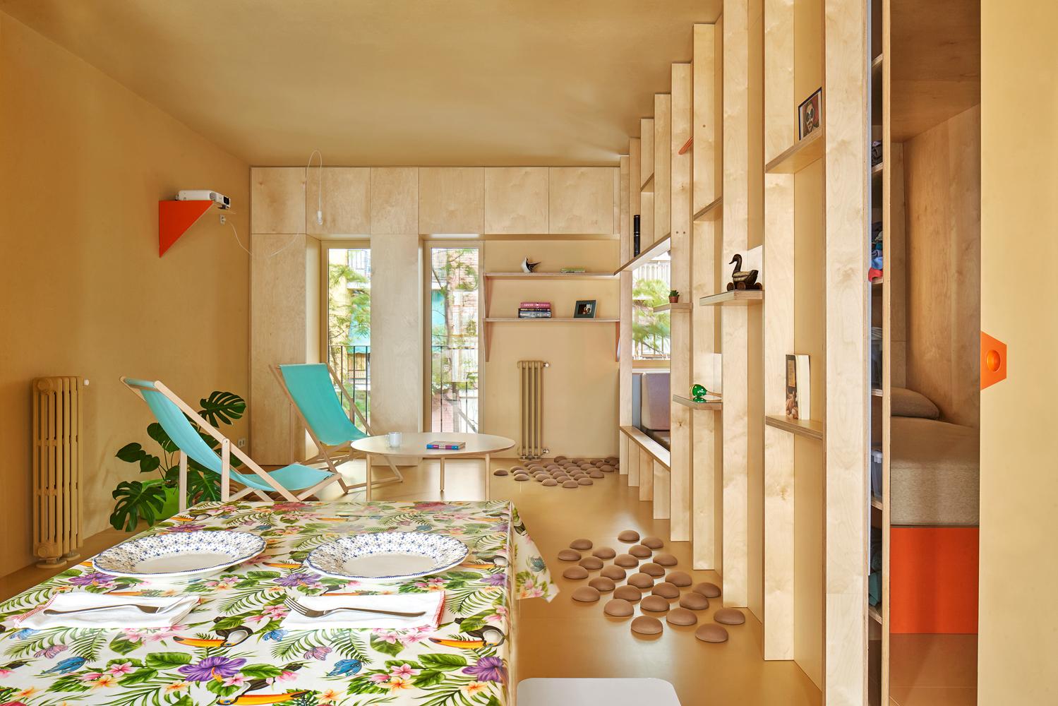 Plywood interior design