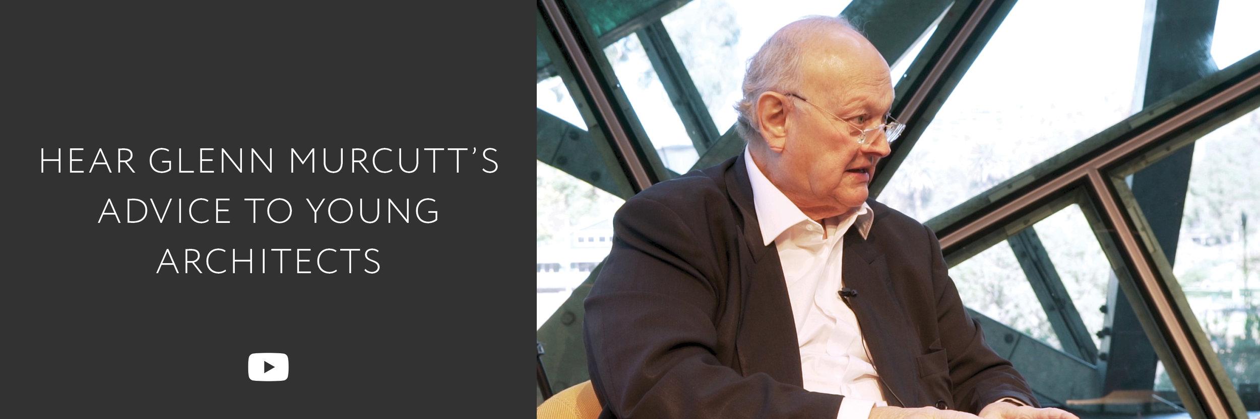 Glenn Murcutt advice young architects | Australian architect