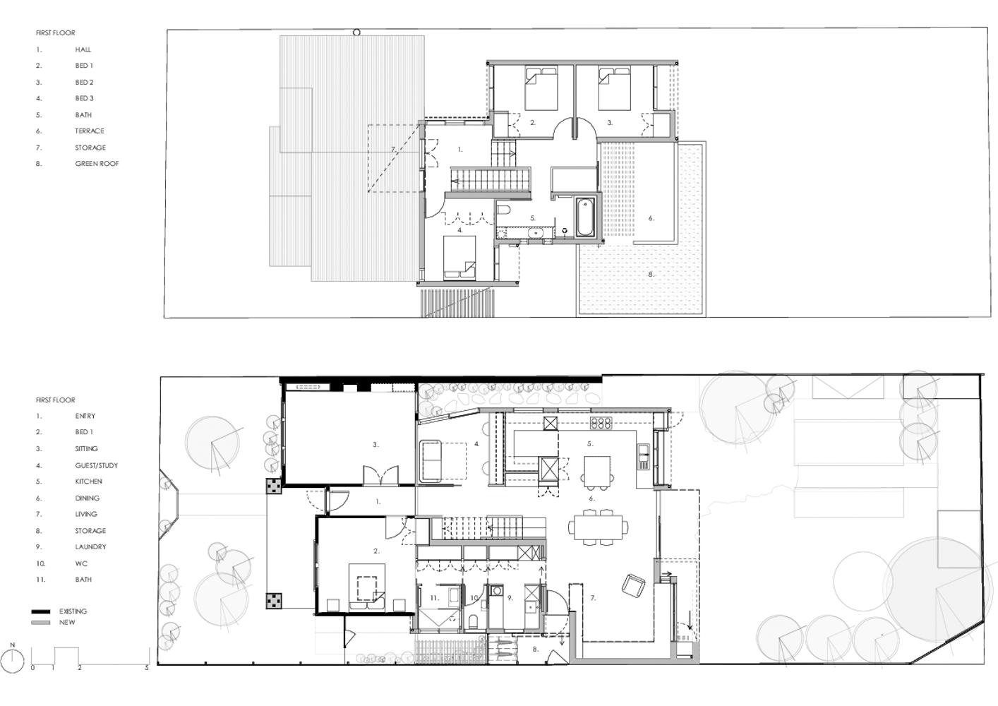 Home extension floor plan