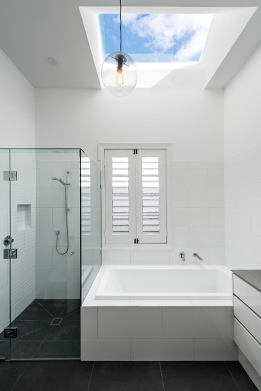 Bathroom with skylight idea