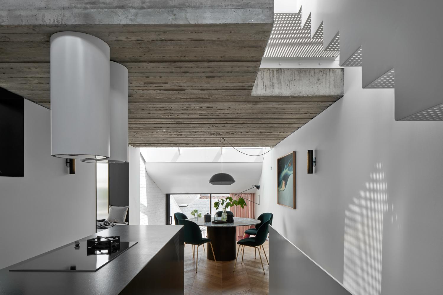 Home concrete interior