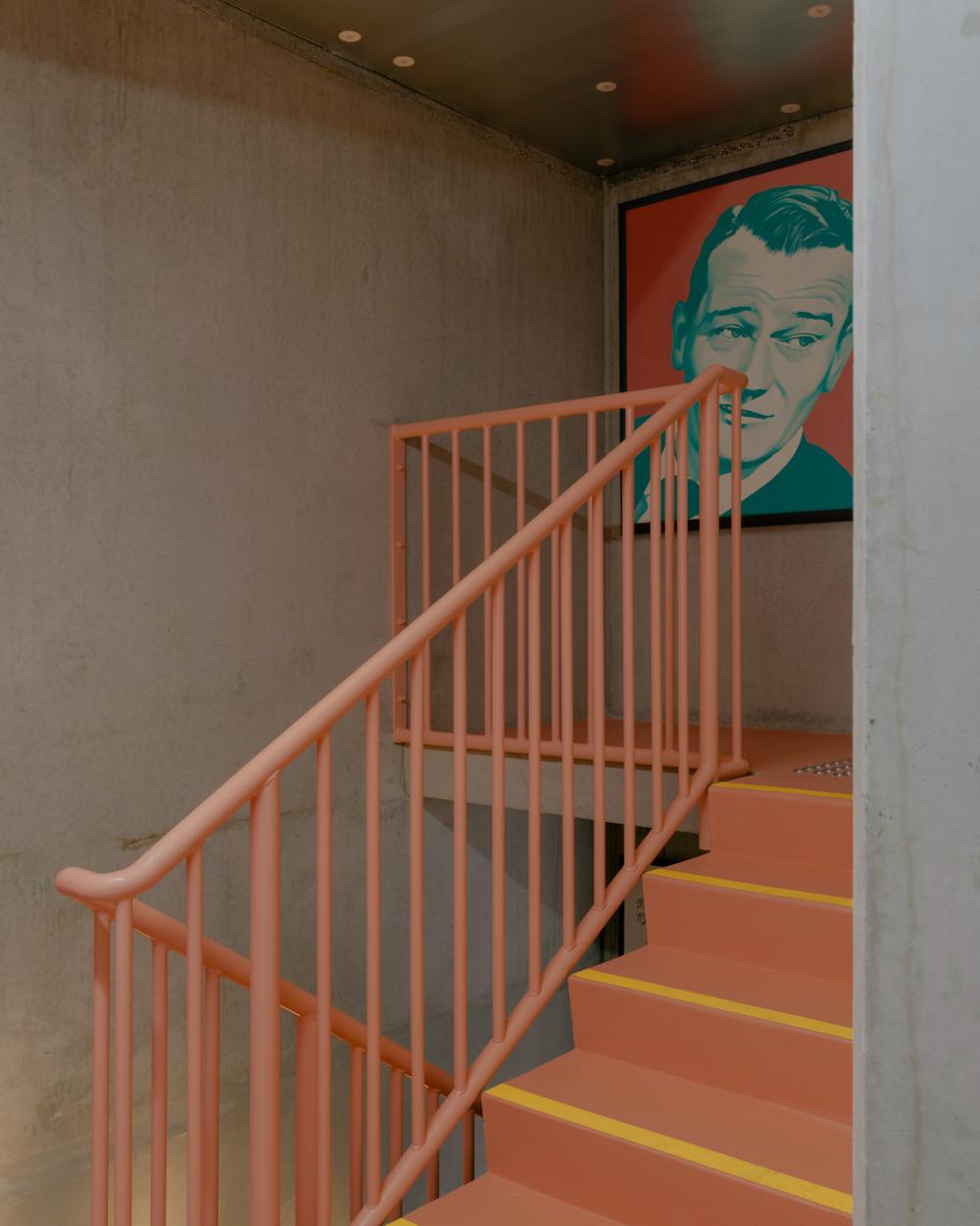 Colourful stair design