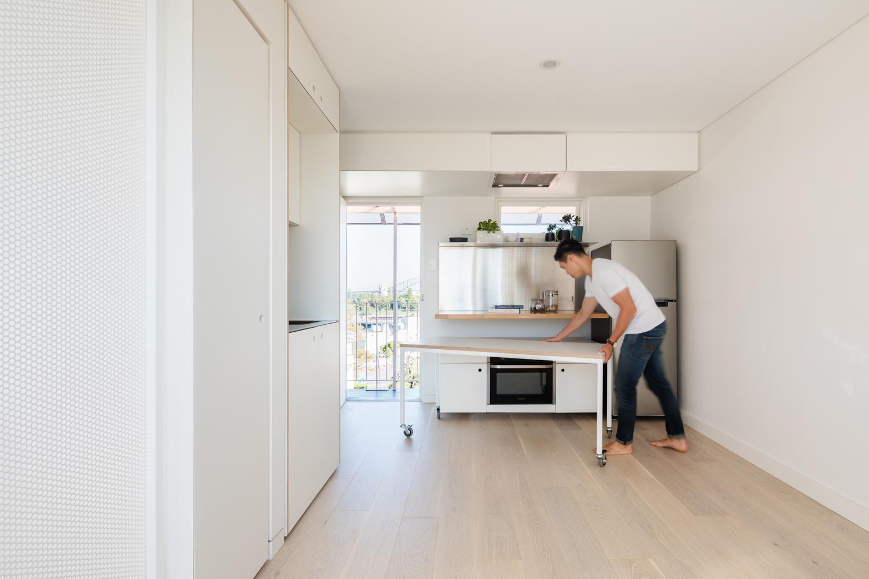 Tiny apartment kitchen design