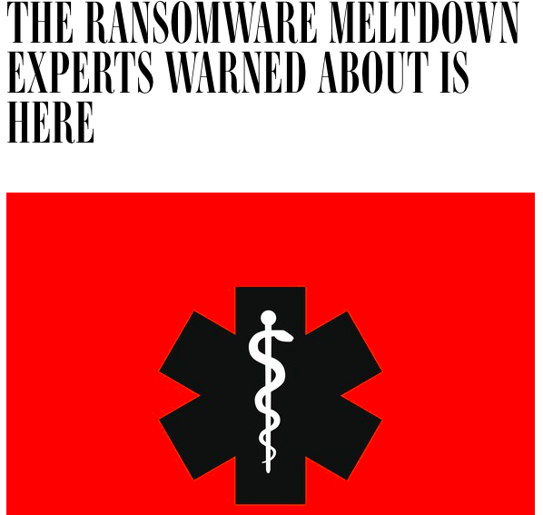 Ransomware hits UK health system