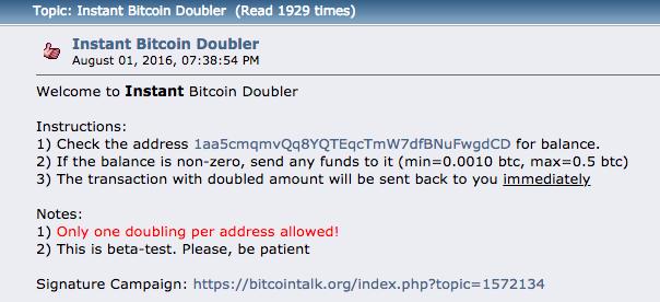 amateur ponzi scheme on bitcoin forum