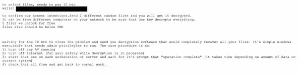 Ryuk Ransomware Email Example
